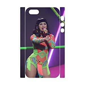 J-LV-F Cell phone Protection Cover 3D Case Katy Perry For Iphone 5,5S