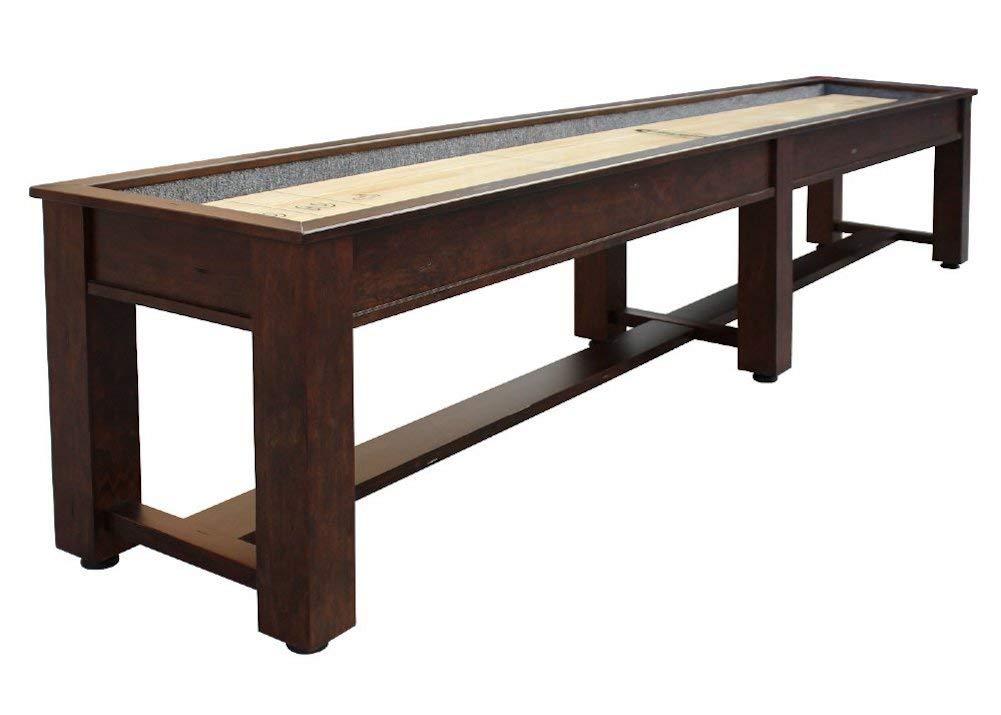 Berner Billiards The Rustic 12 Foot Shuffleboard Table in Brown by Berner Billiards
