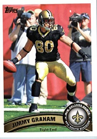 fc22f041d Amazon.com  2011 Topps Football Card  198 Jimmy Graham - New Orleans Saints  - NFL Trading Card  Collectibles   Fine Art