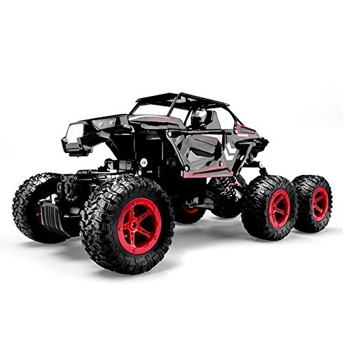 Blexy 6WD RC Cars, 1/14 Scale 2.4Ghz High Speed Electric Remote Control Off-Road Climbing Truck, R C Rock Crawler, All-Terrain RTR Buggy Black, Red