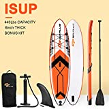 Goplus 10.5' Inflatable Stand Up Paddle Board SUP Cruiser with Fin, Adjustable Paddle Pump and Carry Backpack (Orange) Larger Image