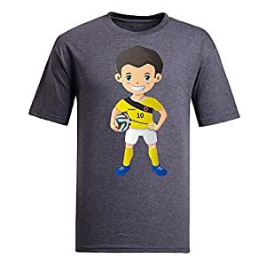 Custom Mens Cotton Short Sleeve Round Neck T-shirt,2014 Brazil FIFA World Cup UP71 gray by lolosakes