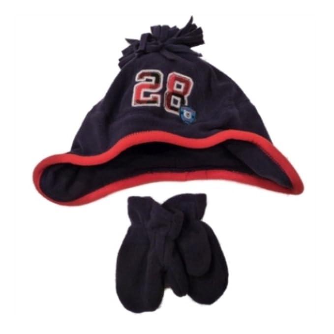 18544e67a Amazon.com: Carter's Toddler Boys Blue Fleece Hat Mittens Set 28 2 ...