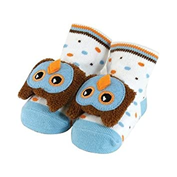 Amazon Com Rattle Socks Owl Blue By Stephan Baby Baby