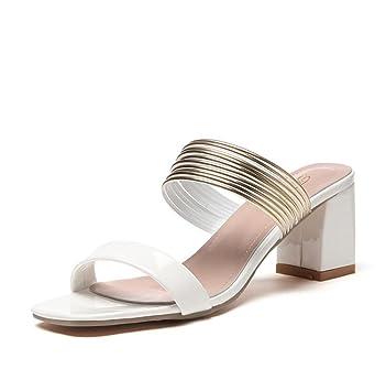 df29fb8210ce79 TWGDH Block Low Heel Sandalen Flip Flop Knöchel High Heels Offene Zehe  Abendkleid Schuhe