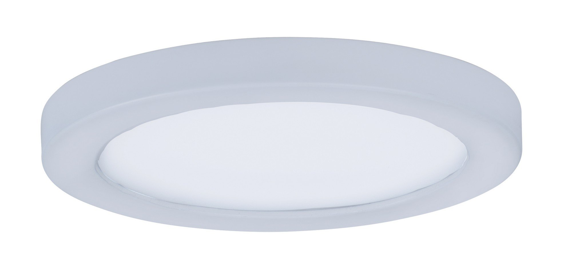 Maxim 57710WTWT Wafer LED Flush Mount Outdoor Flush Mount, White Finish, White Glass, PCB LED Bulb , 18W Max., Wet Safety Rating, 2700K Color Temp, Shade Material, 1355 Rated Lumens