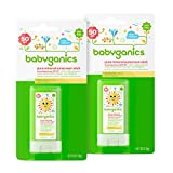 Babyganics Mineral-Based Baby Sunscreen Stick, SPF 50.47oz Stick (Pack of 2)