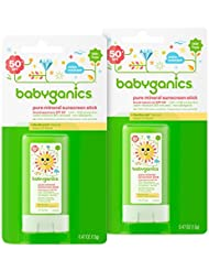 Babyganics Pure Mineral Sunscreen Stick SPF 50.47oz Stick (Pack of 2)