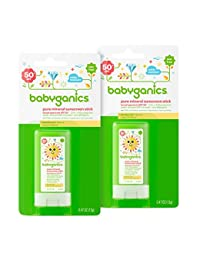 Babyganics Pure Mineral Sunscreen Stick SPF 50, .47oz Stick (Pack of 2) BOBEBE Online Baby Store From New York to Miami and Los Angeles