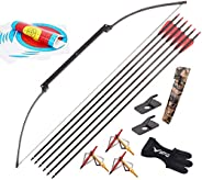 Metal Folding Bow Arrow Set, for Adults 40 Lbs Longbow for Adult Beginner Outdoor Hunting Shooting Training Le
