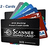 D-Armor RFID Wallet Blocking Card Protector, 2-cards