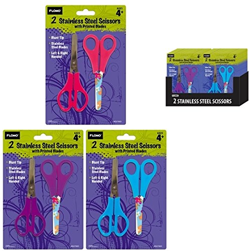 2 pack Scissors with Printed Blades 48 pcs sku# 1916124MA