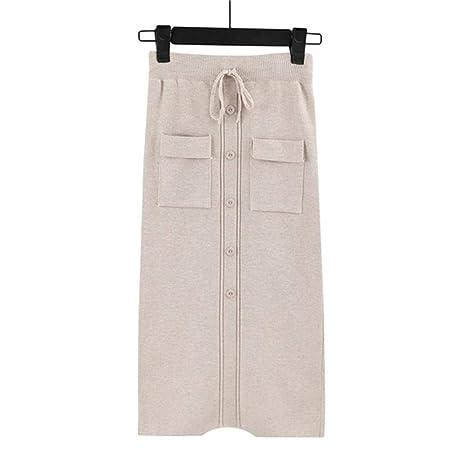 HSDFKD Faldas con Cordón Elástico En La Cintura De Las Mujeres ...