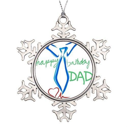 Metal Ornaments Dad Happy Xmas Trees Decorated Large Christmas Tree Decorations -