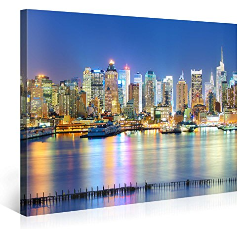 Large Canvas Print Wall Art - MANHATTAN MARINA - 40x30