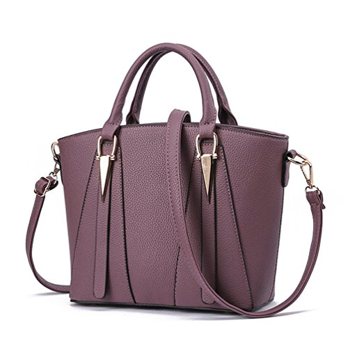 Auspicious Style Simple Cross Size Elegant for Sexy Body Women V Big beginning purple dark Handbag rrwqZgF