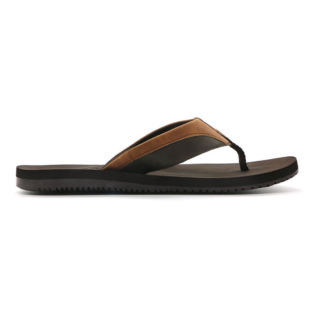 HUMMOO Men's Classic Summer Flip Flops - Thong Athelic Sandals (42 EU/ 9 US, Brown) by HUMMOO (Image #4)