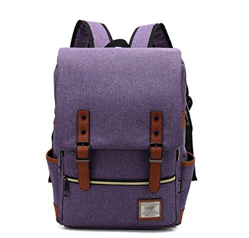 Moda Morado Ordenador para Verde Mochila Mochila Portátil Pulgada Vintage Casual Escuela Claro Backpack 14 Minetom Rucksack Escolar Unisex PFtTnw