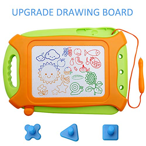 Magna Doodle,Upgrade Magnetic Drawing Board Travel Size Toddlers Toys Colorful Erasable Sketching Pad with Magnet Pen