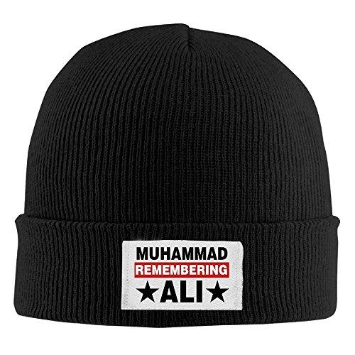 Men Women The Greatest Boxing Legend Ali Acrylic Beanie Knit Hat Black ()