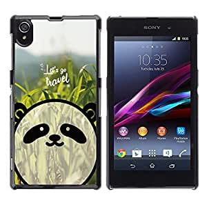 Dragon Case - FOR Sony Xperia Z1 L39 - let's go travel - Caja protectora de pl??stico duro de la cubierta Dise?¡Ào Slim Fit