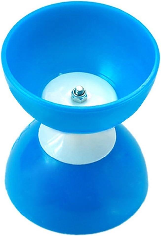 Azul Hakka Cl/ásico Chino Yo-Yos Diabolo Malabares Spinning Toy con Palos de Mano