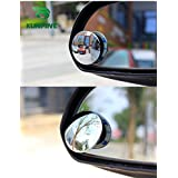 Automotive Blind Spot Mirrors 2 PCS 360 Degree Rotatable HD Glass Convex Wide Angle Lens Universal External Rear View Mirrors