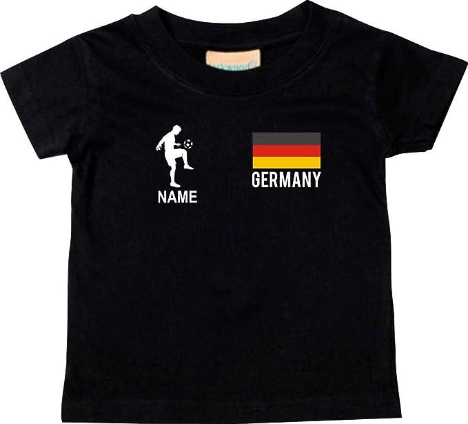Shirtstown Kids camiseta Camiseta de fútbol Germany Deutschland Alemania con su Nombre deseado estampado: Amazon.es: Ropa y accesorios