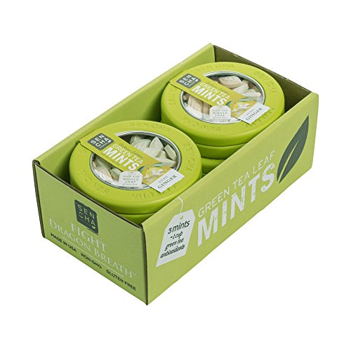 Sencha Naturals Green Tea Mints Canister, Yuzu Ginger, 1.2 Ounce (Pack of 6)