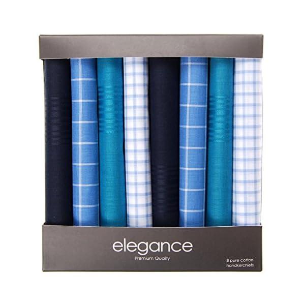 Retreez-8-Piece-Pure-Cotton-Assorted-Mens-Handkerchiefs-Hanky-Gift-Box-Set