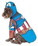 pet costume captain america - Medium Deluxe Captain America Pet Costume