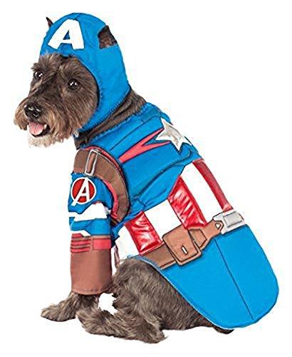 Medium Deluxe Captain America Pet Costume -