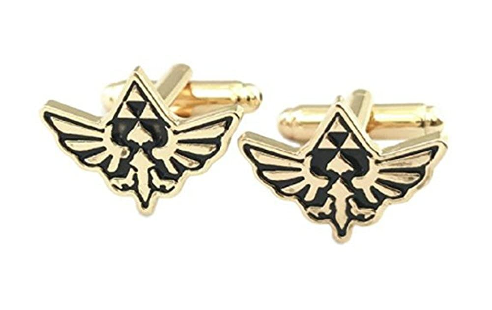 The Legend of Zelda Triforce Wings Goldtone Metal Cufflinks New Horizons Production