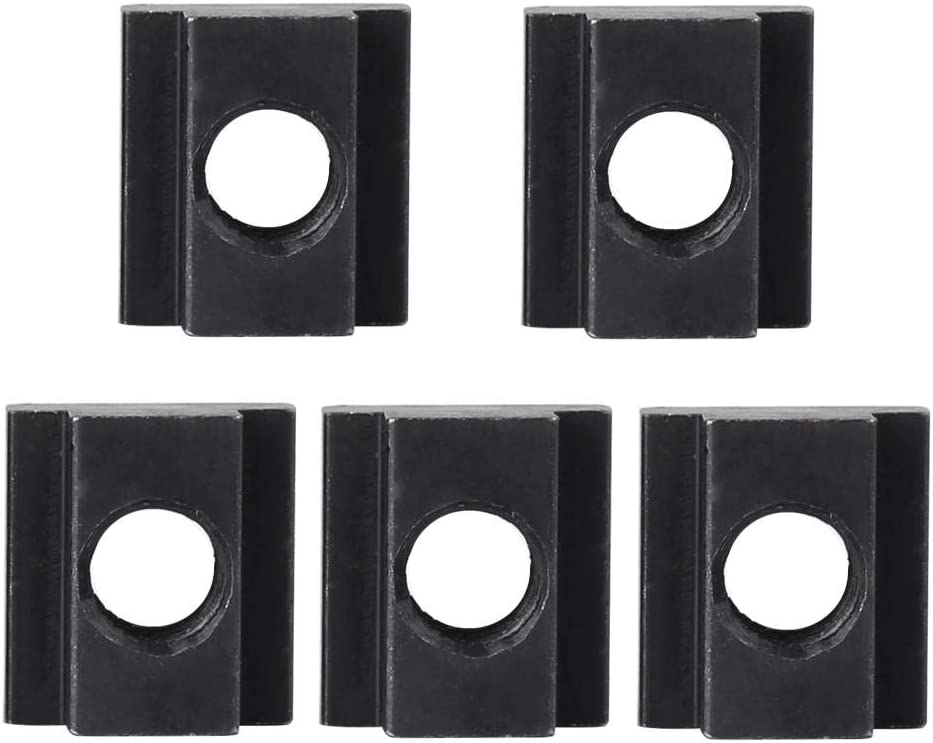 Black Oxide Finish T Slot Nuts M12 Threads Fit Into in Machine Tool Tables 5 pcs Meiyya M12 T Slot Nuts