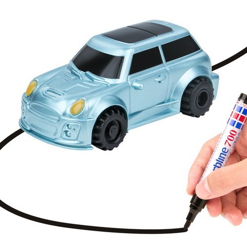 YoCosii Inductive Truck Toy Cars, Magic Vehicles Follow the Black Line, Fun Toy for Boy & Girl Best Toddler Toys MINI Perfect Children Birthday Gift (blue car)