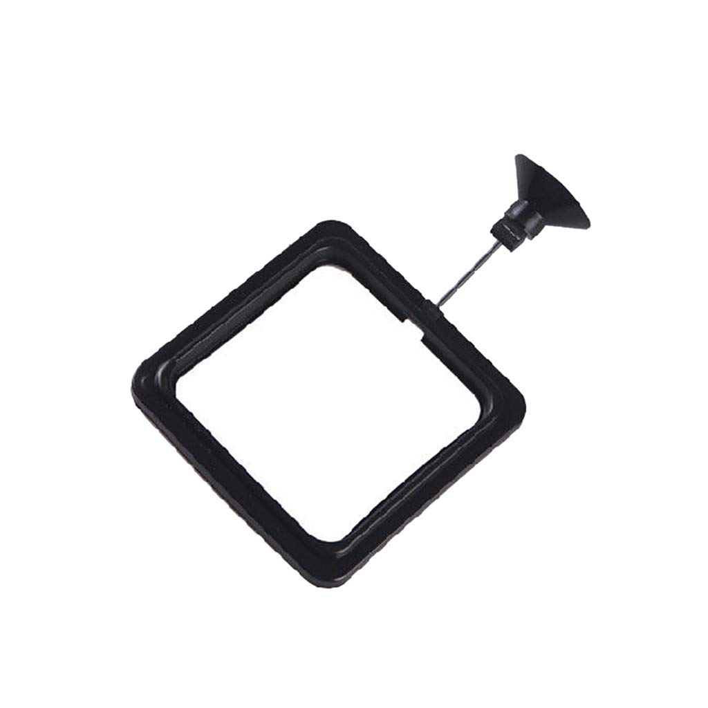 Glumes Round Square Feeding Ring - Practical Floating Food Square - Reduces Waste & Maintains Water Quality - Suitable for Flakes & Other Floating Fish Foods - for Guppy, Goldfish (A)