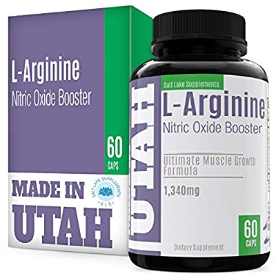 FLASH SALE -L-Arginine Nitric Oxide Booster - Best Muscle Growth Formula With Essential Amino Acids To Build Muscle And Increase Energy Levels To Train And Workout Longer And Harder For Faster Results