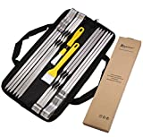 #8: ROMANTICIST SPECIAL OFFER at a Limited Time for 20th Anniversary Celebration - 15Pc Extra Wide Metal Barbecue Skewers Set in Handy Pouch - 16.5