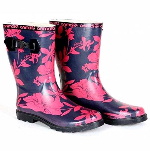 Wlash Women Fiore 40 Boot 5 Animal Rosso Taglia EqRxErZt