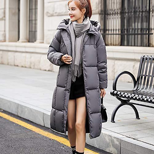Polp Down Button Long Cappotti Slim Abbigliamento Coat Donna Ispessimento vm8nN0wO