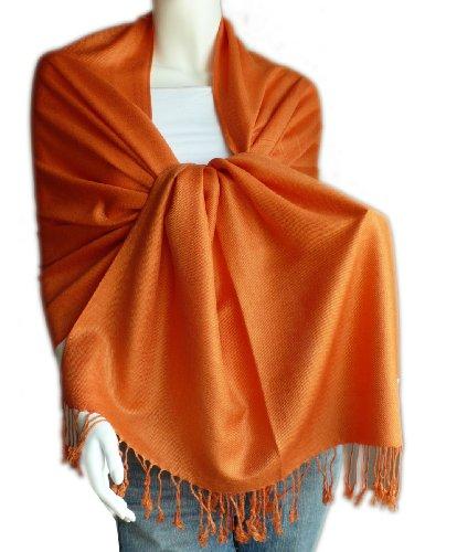 New Best Soft Pashmina/Shawl/Scarf/Wrap/Stole (Orange Wrap)