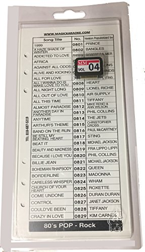 Ls Rock (Leadsinger LS-3C04 80's Pop-Rock Cartridge for LS-3000 Series Karaoke System (150 Songs))