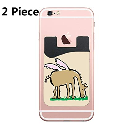 Amazon com: Pegasus Cell Phone Stick On Wallet Card Holder