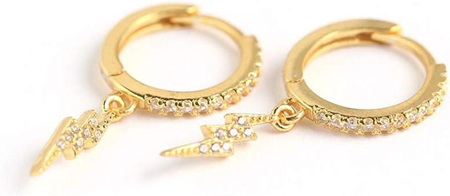 Round Cubic Zirconia Drop Dangle Earrings for Woman Teen Girls