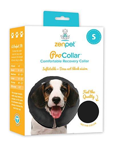 ZenPet Pro Collar Halskrause/Halsschutz für Hunde, Größe S, 15 - 23cm, Grau