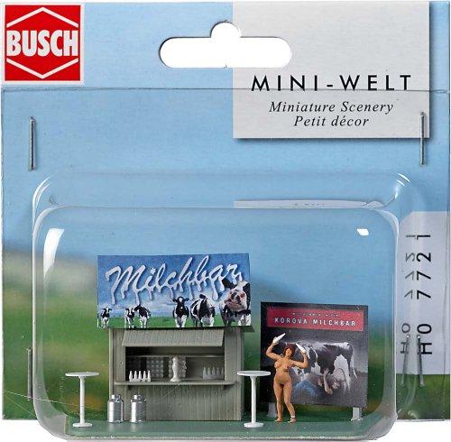 - Busch 7721 Milk Bar Roadside Stand HO Scenery Scale Model Scenery