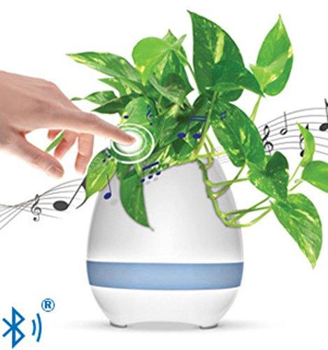 【予約中!】 The 3 - in - touch-activated 1 touch-activated BluetoothスピーカーAmbient - Colored - LED照明花ポットSinging Lily B079GT8S5M, オオヤママチ:caaf78e0 --- arcego.dominiotemporario.com