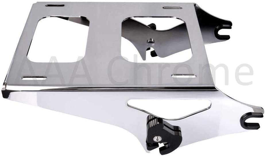 Tour Pak 2 Up Black Detachable Mounting Rack for Harley Street Glide Road King Glide Electra Glide 2014-2020 Chrome