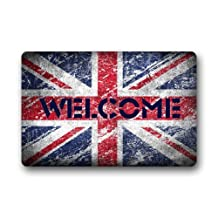 UK British Flag The Union Jack Welcome Custom Doormat Door Mat Outdoor/Indoor