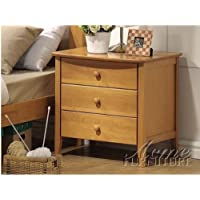 Acme 08948 San Marino Nightstand, Maple Finish